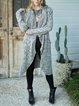 Floral yarn cardigan grey sweater