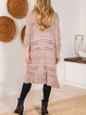 Long casual openwork knitted sweater