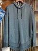 Blue Plain Cotton-Blend Casual Sweatshirt