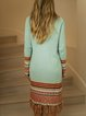 Mint Green Bohemian Long Sleeve Cardigan