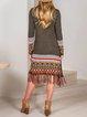 Mohair boho fringed long cardigan sweater