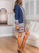 Mid-length boho style mohair cardigan