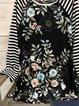 Black Long Sleeve Round Neck Printed Shirts & Tops