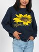 90s sunflower sweatshirt pullover 80s graphic pullover