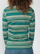 Turtleneck shirt 70s blue long-sleeved striped T-shirt