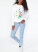 Daffodil retro sweater white sweater