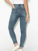 Stretch casual simple washed jeans