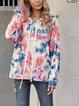 Blue Long Sleeve Hoodie Shirts & Tops