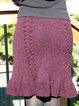 Casual Fishtail Hem Knitted Skirts