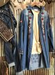 Embroidered Denim Tunic Dress With Fringe Hem Cuffs