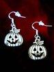Halloween Pumpkin Head Witch Pendant Earrings