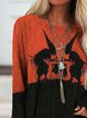 Orange Long Sleeve Crew Neck Shirts & Tops