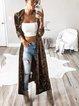 2020 autumn long-sleeved plus-length velvet windbreaker cardigan jacket women's clothing