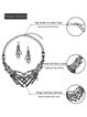 Punk Ghost Hand Necklace Earrings Bracelet Set