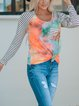 Tie-dyed sequin pocket top neon coral