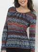 Beautiful sweater ethnic prints for medieval women