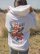 Casual Elegant Floral Printed Hoodie Tops