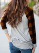 Cotton-Blend Long Sleeve Shift Shirts & Tops