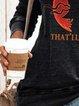 Casual Cotton-Blend Skull Shift Shirts & Tops