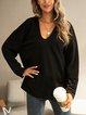 Black Long Sleeve Holiday Shirts & Tops