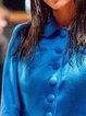 Plain Long Sleeve Shawl Collar Outerwear