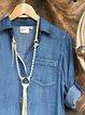 Blue Casual Long Sleeve Shirts & Tops