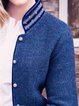 Stand Collar Long Sleeve Outerwear