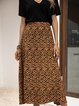 Coffee Holiday Floral Cotton-Blend Skirts