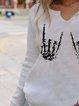 Halloween Skeleton Hands Print T-shirt