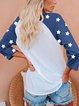 76 America Star Print Casual T-shirt