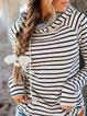 Womens Black Hoodie Casual Sweatshirt