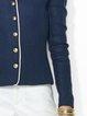 Blue Vintage Plain Shift Outerwear