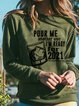 Olive Green Casual Cotton-Blend Long Sleeve Shirts & Tops