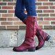 Winter Low Heel Leather Boots