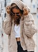 Solid Colored Loose Oversized Halter Neck Sweater Cardigans