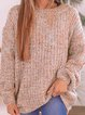Loose Knit Crew Neck Long Sleeve Sweater
