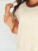 Apricot Plain Cotton-Blend Shirts & Tops