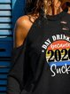 Day Drinking Because 2020 Sucks Cold Shoulder Tops T-shirt