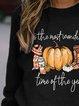 Halloween Funny Printed Long Sleeve Sweatshirt