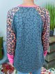 Leopard Cotton-Blend Casual Shirts & Tops