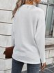 Acrylic Plain Long Sleeve Sweater