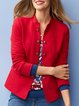 Red Shift Plain Long Sleeve Outerwear