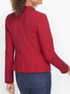Red Shift Plain Long Sleeve Outerwear