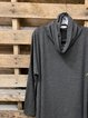 Cowl Neck Long Sleeve Casual Solid Tops
