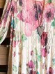 Multicolor Casual Floral Crew Neck Shirts & Tops