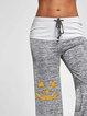 Halloween Print Lantern Casual Yoga Pants