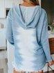 Tie-dye Long Sleeve Abstract V-neck Hoodie Tops