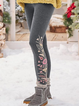 Casual Pattern Warmth Leggings Pants