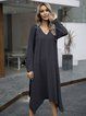 Gray Casual Long Sleeve Dresses