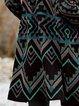 Vintage Shift Shawl Collar Outerwear